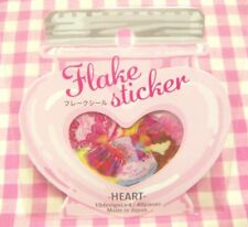 GAIA / Heart Sweets Flake Sticker / Made in Japan Cupcake Cake Candy Pink