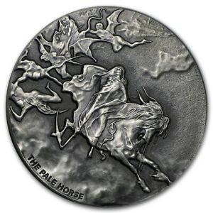 Pale Horse 2 oz .999 silver coin Biblical series, Bible Story 2015 Jesus God