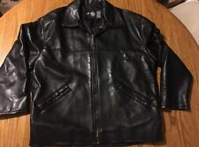 "GV Emporio Hand Made In Italy Faux -Vegan Leather Jacket 50"" Chest Men's XL Size"
