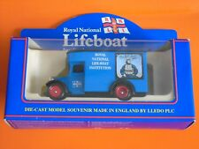 Lledo - ROYAL NATIONAL LIFE-BOAT INSTITUTION - 1934 Blue Dennis Parcels Van