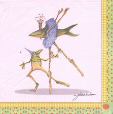 2 serviettes en papier Animal Grenouille Poisson Paper Napkins Frog & Fish