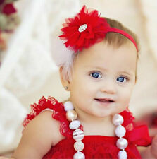 Baby Feather Pad Headband  Flower Hair Band FASCINATOR Accessories For Kids
