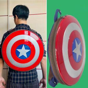 Avengers Hard Backpack Captain America Shield Shoulder Bag Cosplay 19in IN STOCK