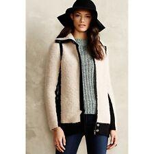 Anthropologie Colorblocked Boucle Coat sweater cardigan Sparrow sz S $158