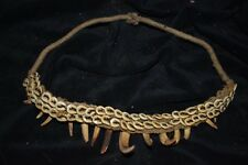 "ORIG $399-MEGA PAPUA NEW GUINEA TOOTH NECKLACE 1900S 14"" PROV"