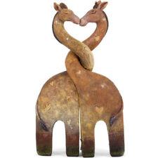 Entwined Kissing Giraffe Family Heart Art Figurine Ornament Statue Figure Gifts