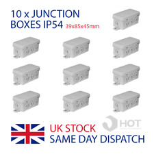 10 x cassette di giunzione IP54 IMPERMEABILE 39x85x45mm