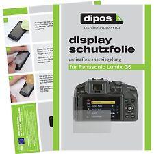 6x dipos Panasonic Lumix DMC G6 Schutzfolie matt Displayschutzfolie Antireflex