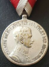 ✚8580✚ Austro-Hungarian WW1 Bravery Medal SILVER IV. KARL POST 1916 FORTITUDINI