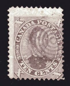 1859-1864 Canada SC# 17-First Cents Issue-HRH Prince Albert-Lot# CUO7-Used
