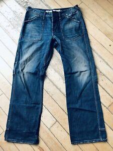 Mens Evisu Genes Jeans Size 34/32