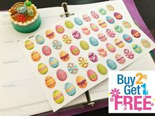 PP311 -- Small Easter Eggs Life Planner Stickers for Erin Condren (50pcs)