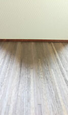 "Dollhouse Miniature Dark Real Wood Flooring 1/4"" Planks 1:12 Scale 17"" x 11"""