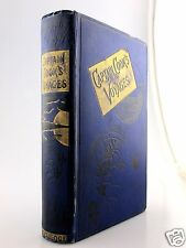 CAPTAIN COOK VOYAGES 1880 Cook's VICTORIAN FINE BINDING Hawaii AUSTRALIA Travel