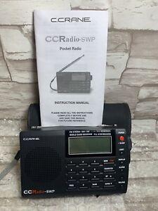C.Crane CCRadio-SWP FM Stereo AM/SW Pocket Radio World Band Receiver WORKS GREAT