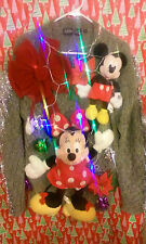"MINNIE MICKEY MOUSE "" UGLY "" Tacky Christmas SWEATER MEDIUM LIGHTS WOMENS L@@K"