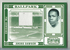 2010 Century Collection Andre Dawson Ballpark Game Used Jersey Relic CUBS #49/99
