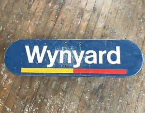 Railway Sign Wynyard station Cityrail Collectables Train 1990's