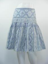 THE LIMITED Cotton Paisley Peasant Pleated Tiered LINED Skirt Sz 4 - W29 x L23