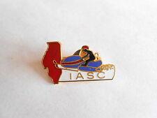 Vintage IASC Illinois Association of Snowmobile Clubs Enamel Pinback Lapel Pin