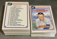 1983 Donruss Hall Of Fame Heroes Complete Set Lot w/ Extras Mickey Mantle Aaron