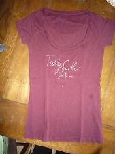 tee shirt teddy smith bordeaux occasion en tbé taille 0 soit xs ou 34