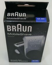 BRAUN M-90 Mens Mobile Travel Electric Shaver Cordless Battery Powered+Trimmer
