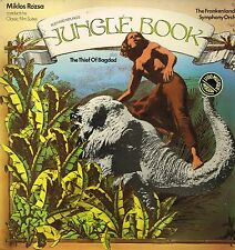 "LP 12"" 30cms: BO du film: jungle book: miklos rozsa. UA. D2"