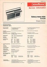 NORDMENDE - Galaxy mesa 4404 4.110 B - Service Information Schaltbild - B3502