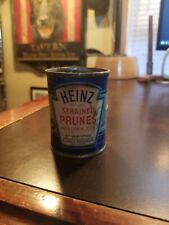 Vintage Heinz 57 Strained Baby Food Paper label Tin Can~ Strained Prunes