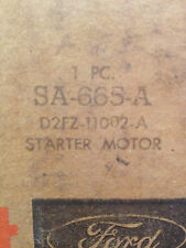 SA665A Starter Motorcraft Mustang II Pinto Bobcat 4 cyl D2FZ11002A *see specs*