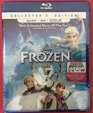 DISNEY FROZEN COLLECTOR'S EDITION (BLU-RAY+DVD+DIGITAL HD)FREE SHIPPING