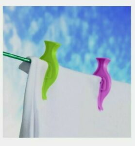 2 x SupaHome Plastic Clothes Pegs 61mm Length Pack Of 24 (48 total pegs)