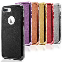 Glitter Cover for iPhone 7 Plus Shell Shiny Case Back Soft Bling Bumper Silicone