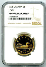 1995 $1 CANADA LOONIE NGC PF69 UCAM LOON DOLLAR PROOF RARE POP ONLY 13