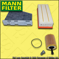SERVICE KIT for AUDI A3 (8P) 2.0 TDI MANN OIL AIR CABIN FILTERS (2003-2010)
