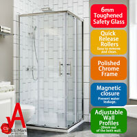 Corner Shower Screen Corner Cubicle Quadrant 900x900mm Sliding Shower Enclosure