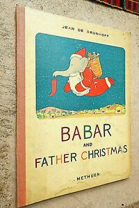 BABAR AND FATHER CHRISTMAS - 1947 3rd ENGLISH EDITION