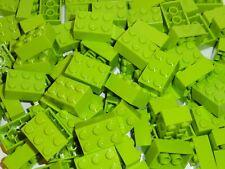 NEW LEGO Lime Green 2X3 Bricks Bulk Lot of 50 Pieces 3002 Building Parts