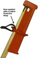 Cue Tip Clamp. For snooker and pool cues. Now with a leather protective strap.