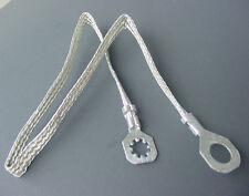 "1967-87 Ford 15"" Ground Wire Strap Strip Bonding Ring 10 AWG Gauge 1/4 -3/8"" Nos"