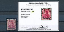 Danzig 10 Pfennig Germania 1920 gute Farbe Michel 2 a Befund (S14292)