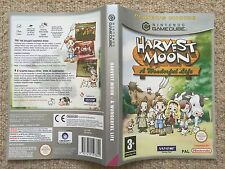 COVER INSERT ONLY Harvest Moon A Wonderful Life - GameCube Box Cover Art Only
