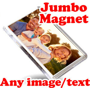 CUSTOM Jumbo 70mm x 45mm Magnet | Personalised Bespoke Acrylic Magnet Tourism