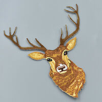 Reindeer Patch Deer Patch Animal Iron on Sewing Applique Embroidered DIY Crafts