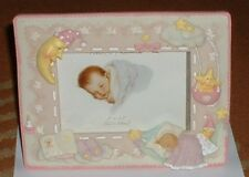 "PINK RESIN PHOTO FRAME TOP QUALITY FOR YOUNG GIRL OR BABY TAKES 5"" x 3.5"" PHOTO"