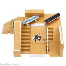 Set 5pcs Skate Park Kit Ramp Parts for Tech Deck Finger Board Training Props