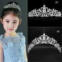 Woman Children Crown Rhinestone Crystal Decor Veil Headband Girls Party Tiara