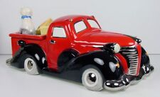 Henry Cavanagh Vintage Truck Cookie Jar Transportation Red Hot Rod Pickup NIB