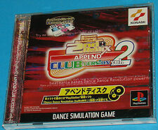 Dance Dance Revolution 2nd Remix Append Club Vol. 2 - Sony Playstation - PS1 PSX